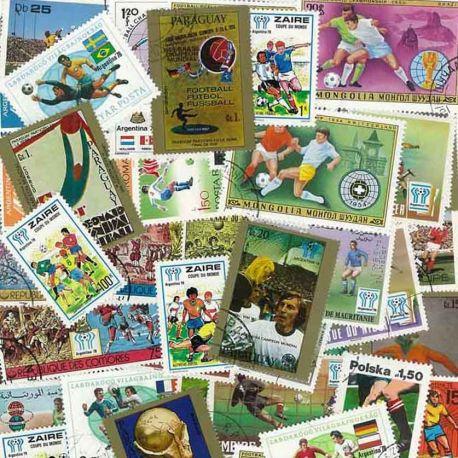 Fuß-Argentinien: 50 verschiedene Briefmarken