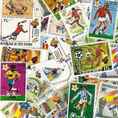 Fuß Spanien: 100 verschiedene Briefmarken