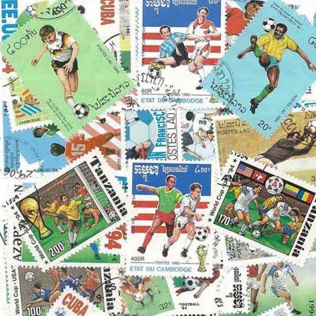 Collection de timbres Foot Etats Unis oblitérés