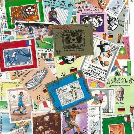 Fuß Italien: 100 verschiedene Briefmarken