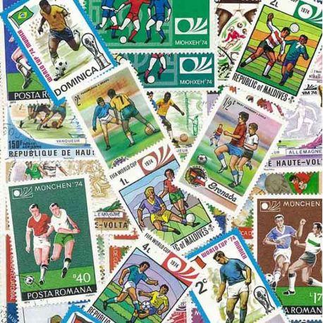 Collection de timbres Foot Munich 74 oblitérés