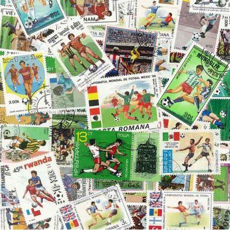 Fussball Mexiko 86:100 verschiedene Briefmarken