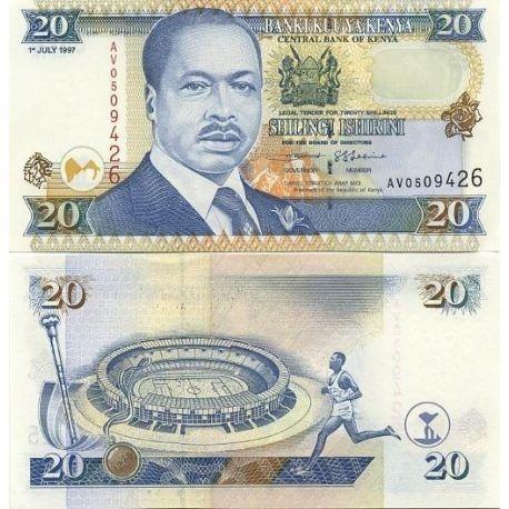 Billets de banque Kenya Pk N° 32 - 20 Shillings