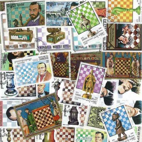 Schach: 100 verschiedene Briefmarken