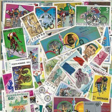 Collection de timbres Cyclisme oblitérés
