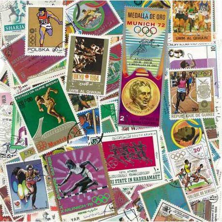 Collection de timbres Course A Pied oblitérés