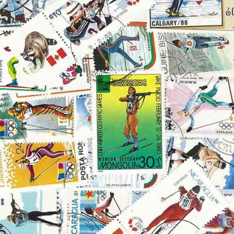 Collection Timbres sports hiver Collection de timbres Ski De Fond Et Biathlon oblitérés à partir de 12,00 €