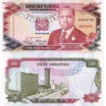 Beautiful banknote Kenya Pick number 26 - 50 Shilling