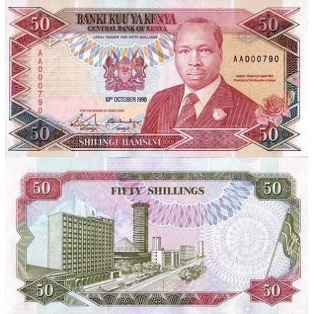 Billets de collection Billets collection Kenya Pk N° 26 - 50 Shilling Billets du Kenya 17,00 €