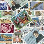 Collezione di francobolli strumenti musicali cancellati