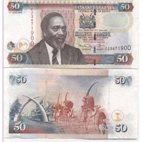 Billets de collection Billet de banque Kenya Pk N° 47 - 50 Shilling Billets du Kenya 4,00 €