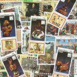 Colección de sellos Christophe Colomb usados