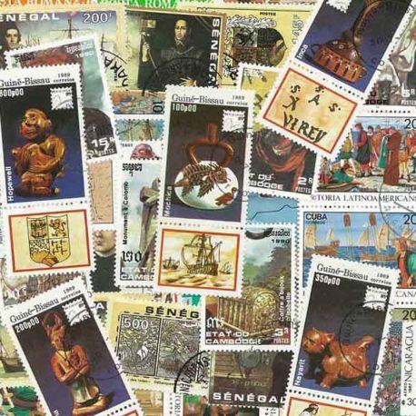 Collection de timbres Christophe Colomb oblitérés