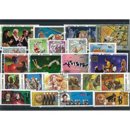 Collection de timbres Cirque oblitérés