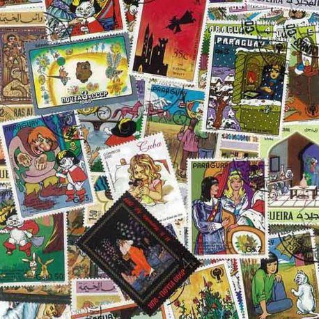 Contes : 100 timbres différents