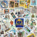 Collezione di francobolli costumi cancellati