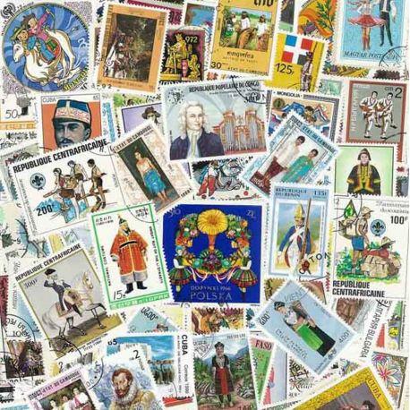 Kostüme: 100 verschiedene Briefmarken