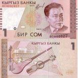 Collezione banconote Kirghizistan Pick numero 15 - 1 Som
