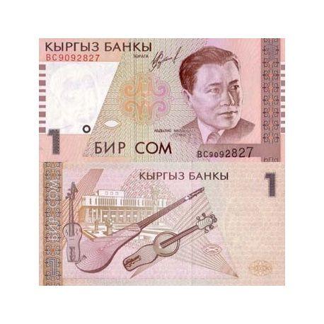 Billets banque Kirghizstan Pk N° 15 - 1 Som