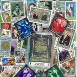 Stamp collection used De Gaulle