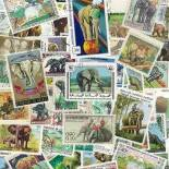 Stamp collection used Elephants