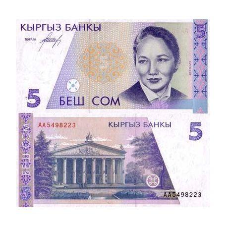 Kirghizstan - Pk N° 8 - Billet de 5 Som