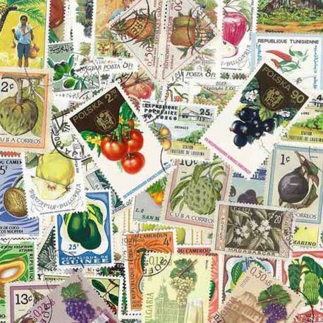 Collection de timbres Fruits oblitérés