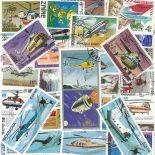 Collection de timbres Helicopteres oblitérés