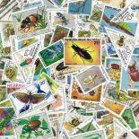 Gestempelte Briefmarkenensammlung Insekten