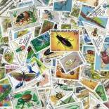 Collezione di francobolli insetti cancellati