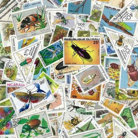Collection de timbres Insectes oblitérés