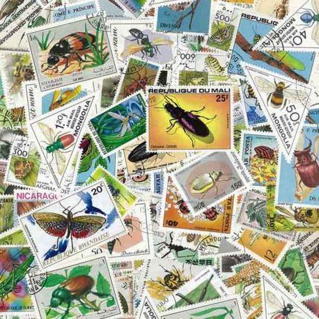 Insekten: 100 verschiedene Briefmarken