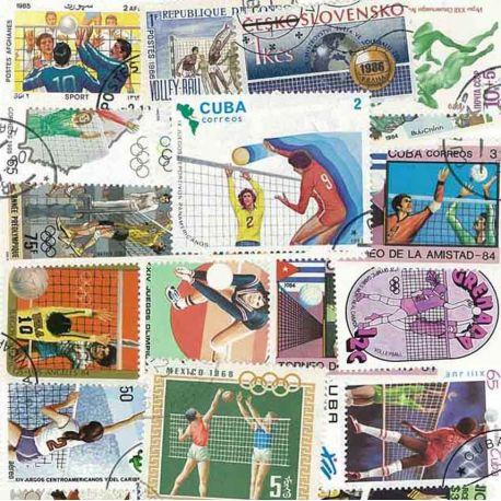 Volleyball: 25 verschiedene Briefmarken