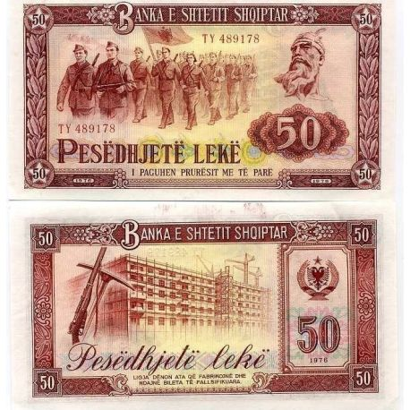 Albanie - Pk N° 45 - Billet de 50 Leke