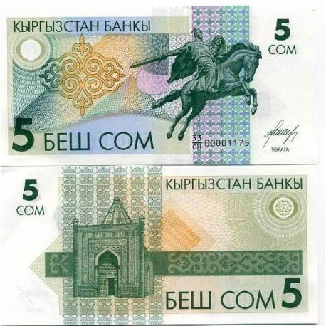Kirghizstan - Pk N° 5 - Billet de 5 Som