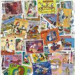 Sammlung gestempelter Briefmarken Walt Disney