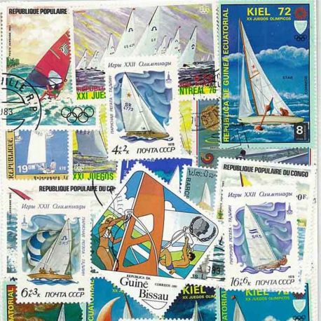 Segel: 50 verschiedene Briefmarken