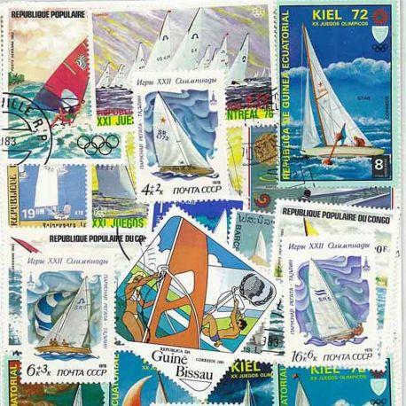 Collection de timbres Voile oblitérés