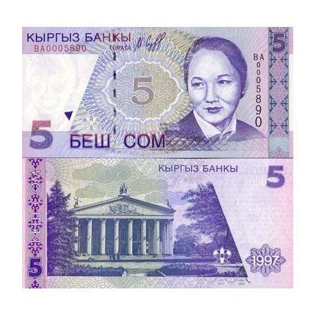 Kirghizstan - Pk N° 13 - Billet de 5 Som