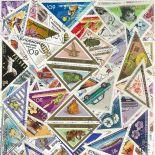 Colección de sellos Triángulos usados