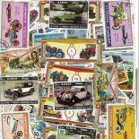 Sammlung gestempelter Briefmarken Kraftfahrzeuge