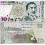 Banconote Kirghizistan Pick numero 14 - 10 Som