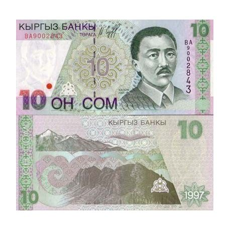 Kirghizstan - Pk N° 14 - Billet de 10 Som