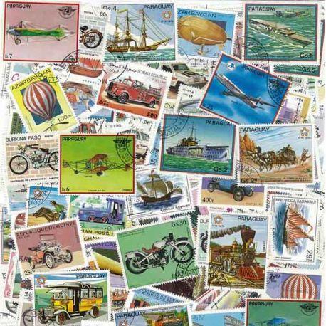 Verkehr: 100 verschiedene Briefmarken