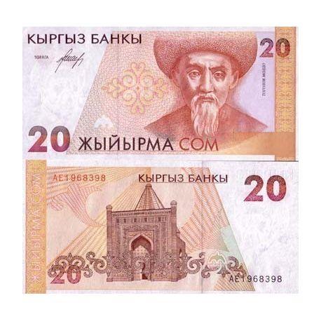 Kirghizstan - Pk N° 10 - Billet de 20 Som