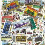 Collezione di francobolli treni cancellati