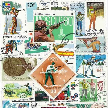 Tir Arme A Feu : 25 timbres différents
