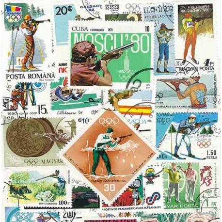Collection de timbres Tir Arme A Feu oblitérés