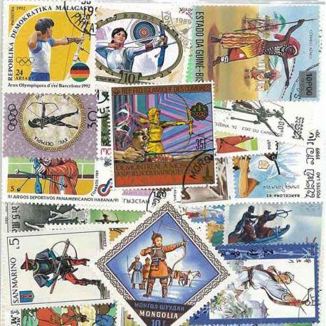 Collection de timbres Tir A L'Arc oblitérés