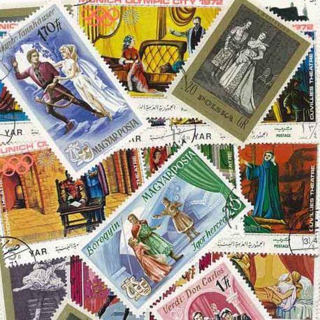 Theater: 50 verschiedene Briefmarken